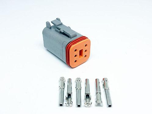 Soquete Plug Conector Fêmea Linha Agrícola Máquinas Dt06-6s