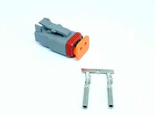 Kit Soquete Plug Conector Linha Deutsch Dt06-2s Máquina Agricola