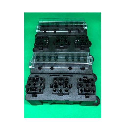 Caixa Porta Fusível Universal Tipo Lamina Com 2 Porta Relés