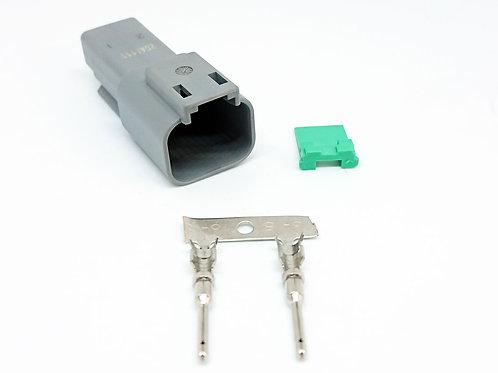 KIT Soquete Plug Conector Macho Linha Agrícola Máquinas Dt04-2p