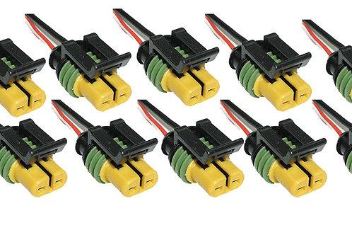 Soquete Plug Conector Farol Milha Palio 10 Un. Versão Delphi