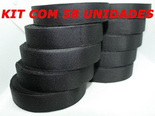 Fita Isolante Tecido Pano Rolo 15m X 19mm Kit Com 58 Un
