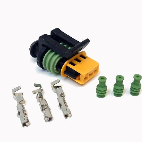 Soquete Plug Conector Para Sensor De Borboleta Tps Vw Kit Desmontado