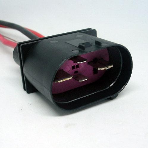 Chicote Plug Conector Macho Ventoinha Vw Golf Audi Polo Bora