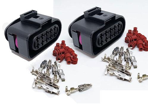 Soquete Plug Conector Farol Fiat Stilo Kit C/ 2 Desmontado