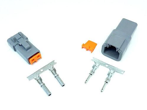Kit Conector Deutsch 2 Vias Dtp06-2s Dtp04-2p