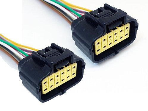 Chicote Plug Conector  Fêmea Do Farol Scania Serie 5 Econoseal Kit com 2