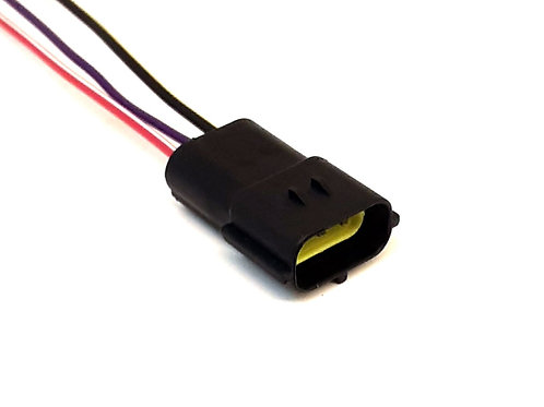 Soquete Plug Conector para Retrovisor Elétrico Fox, SpaceFox 2003/2009.