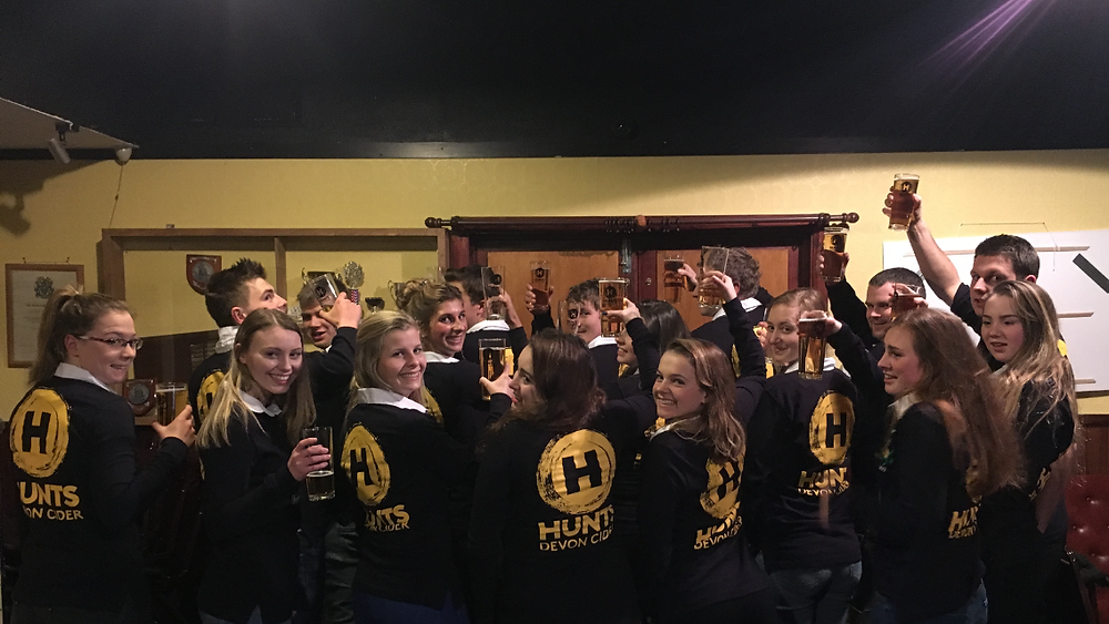 Totnes YFC showing off their new rugby shirts
