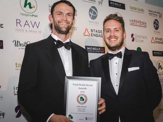 Hunt's Cider on the menu at Food & Drink Devon Awards