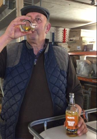 Roger Taste testing the Andsome Bay