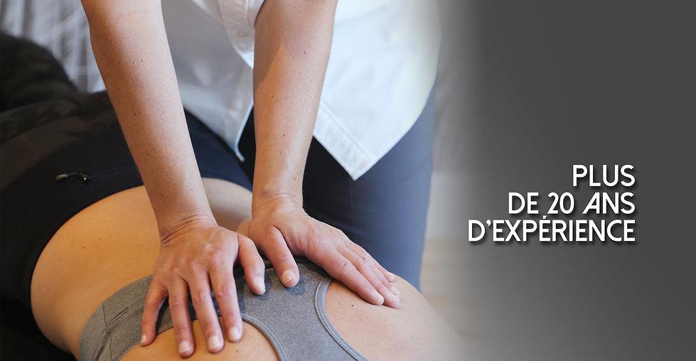 mains sur un dos faisant un ajustement chiropratique de la colonne dorsale