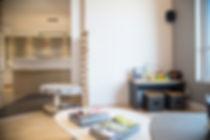 réception et salle d'attente clinique chiropratique du Dre Péguy Poisson, chiropraticienne à Victoriaville
