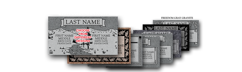 Companion Flat Marker Headstones for Graves
