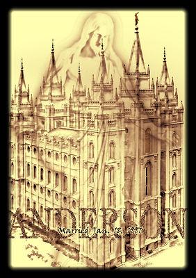 LDS Temple, temple, salt lake temple, temple art, pencil art, art, artwork, unique artwork, custom artwork, custom art, art prints, jesus, family tree, hidden names, moroni, mormon temple
