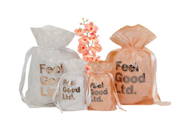 White and Peah Poly Pouches