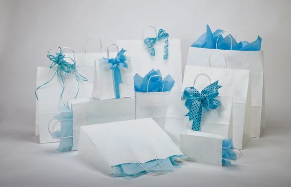 White Kraft Paper Shoppers