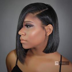 Cut _ Silk Press by stylist Tiffany.  Make up by Emma