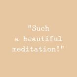 Feedback from Instagram Live meditation