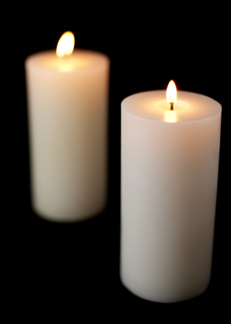 Pure White Candles
