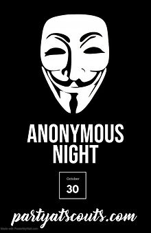 Poster Anonymous Party - Made with Poste