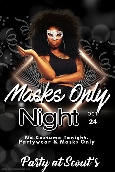 Poster Masks Only Party - Made with Post