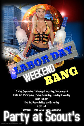 Poster Labor Day Weekend Bang - Made wit