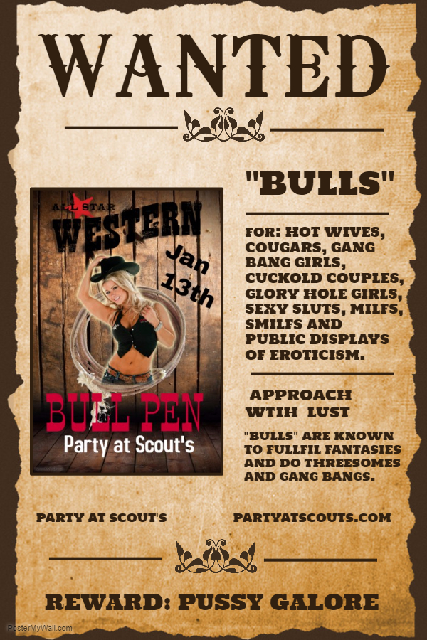 Bull Pen Wanted Poster