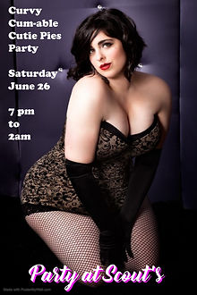 Poster Curvy Cutie Party - Made with Pos