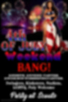 Poster 4th of July Weekend Bang - Made w