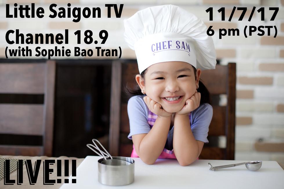 Watch Chef Sam LIVE!!