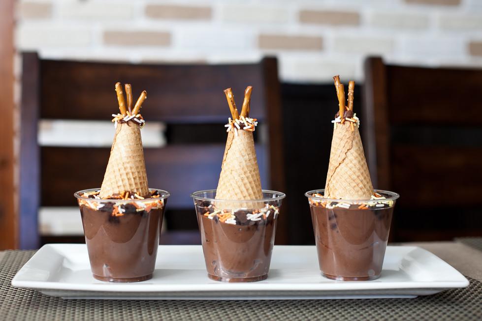 Chocolate Pudding Teepees