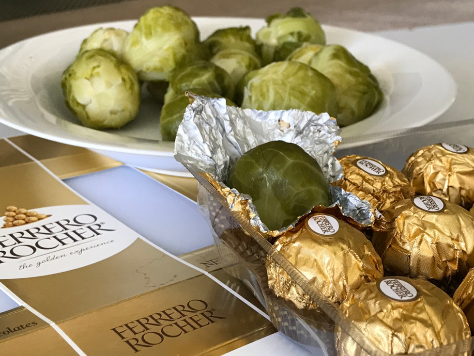 Easter prank with Brussel Sprouts
