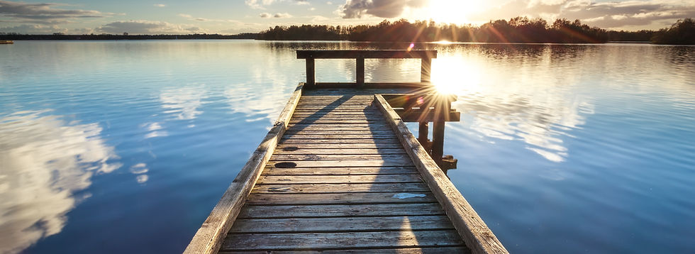 Wooden Dock on Clear Lake - 1038280904.j