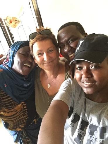 Mary with Aziza's happy family