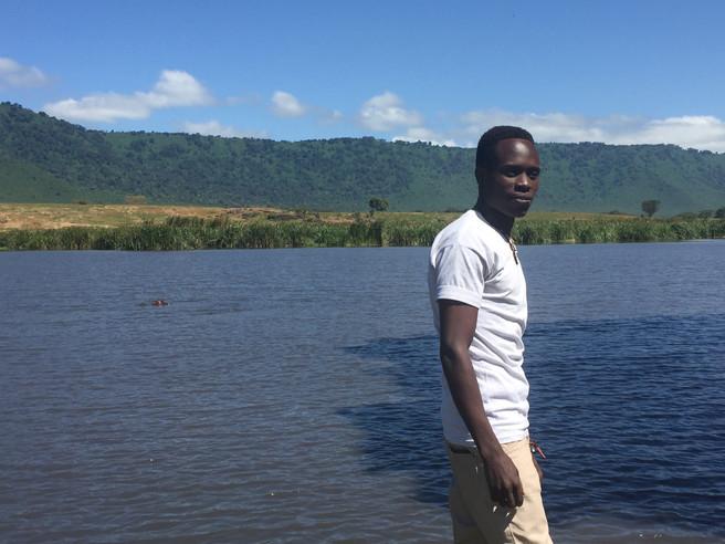 On safari at the hippo pond