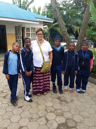 Visiting kids at school