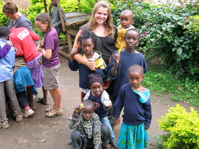 Madeleine at the orphanage in 2009