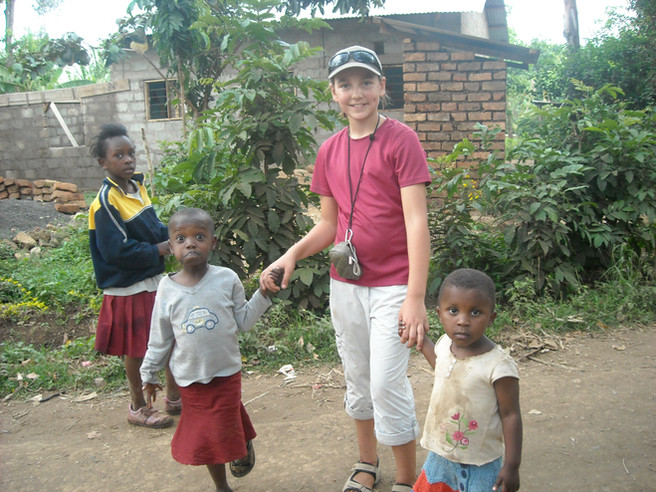 Lucie looking after the younger orphans (2009)