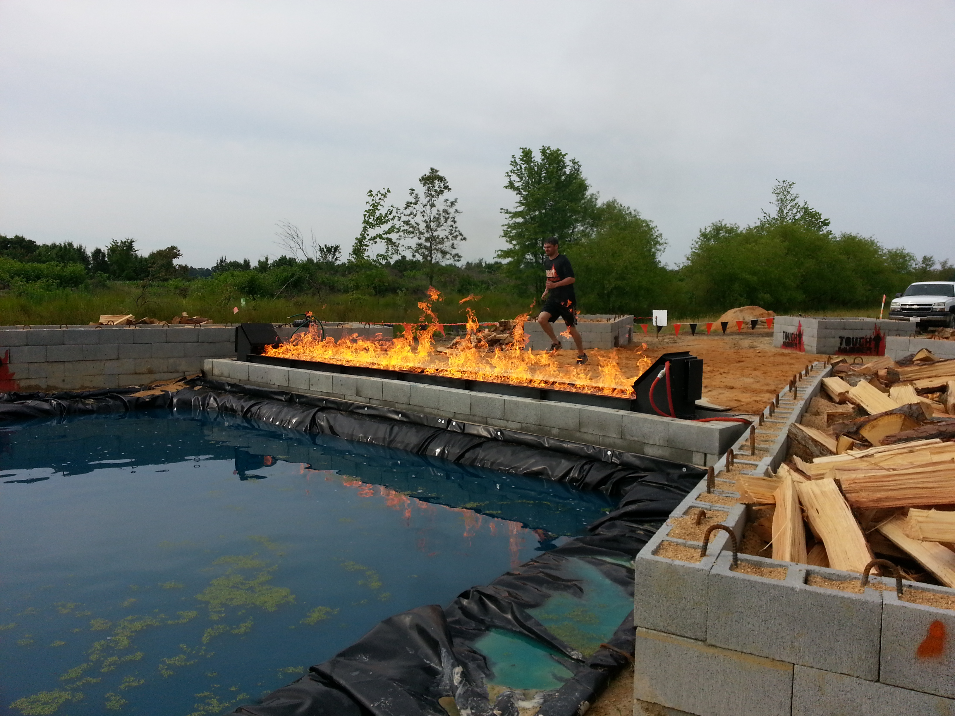 Tough Mudder Flame Trench