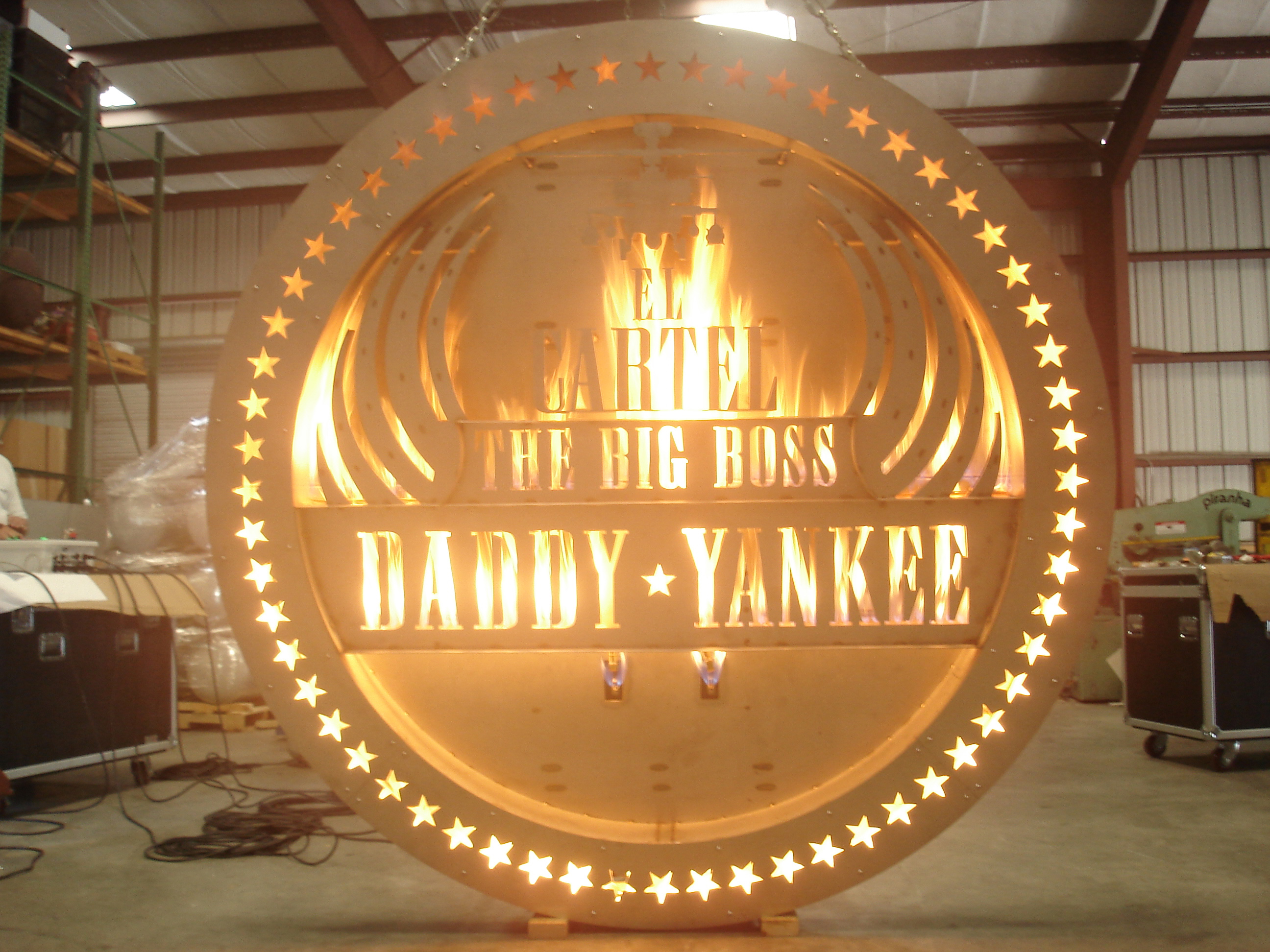 Daddy Yankee Burning Sign