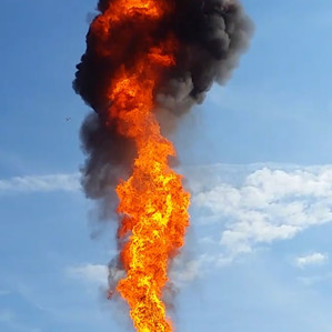 More Than 165 Feet of Flame