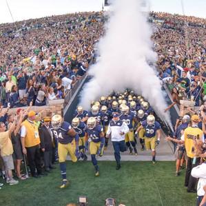 Notre Dame Vs Michigan Football Team Entrance