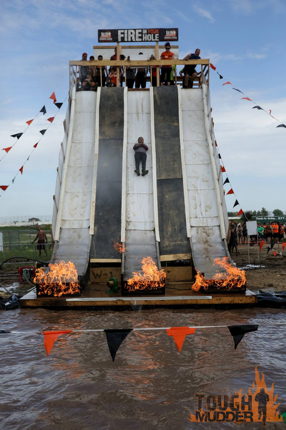 Tough Mudder Flame Slide