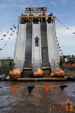 Tough Mudder Flame Slide