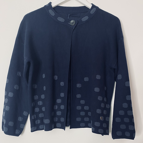 Navy dotty cardigan