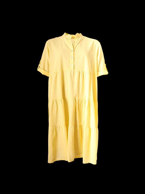 Lemon Cotton pinstripe dress