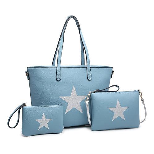 Mini clutch blue star bag