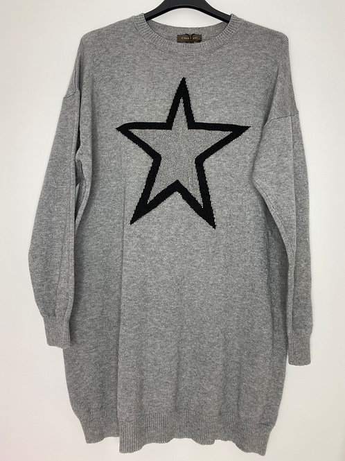 Grey star jumper dress