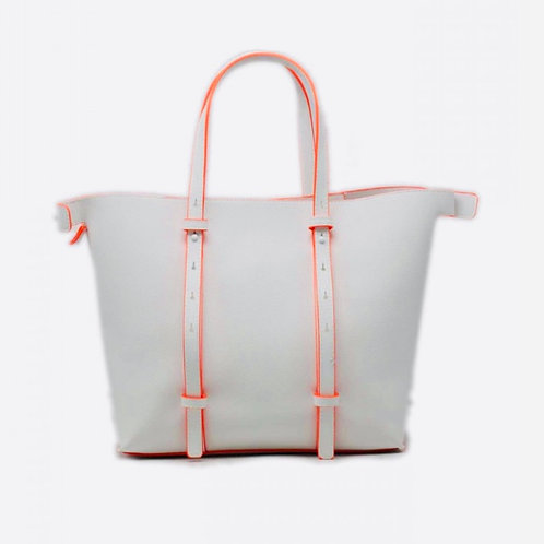 White with orange trim bag
